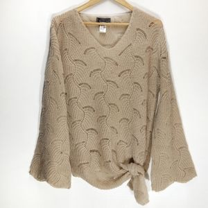 Elsamanda | Anthro Crochet Tie Front Sweater